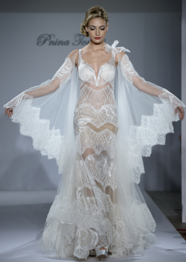 skin baring wedding dresses