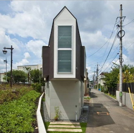 small triangle house