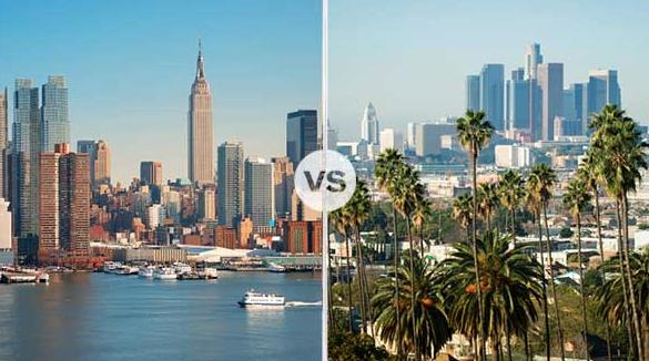 new york versus la