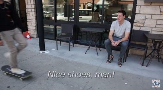 guy wearing heels social experiment