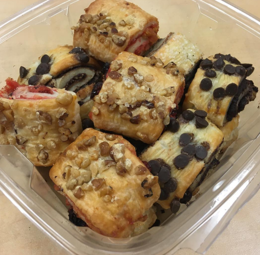 American-style rugelach, dense and chewy