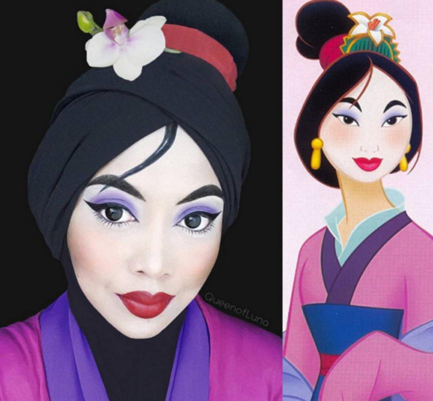 disney hijab makeup artist