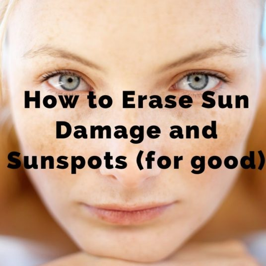 erasing sunspots and sun damaage