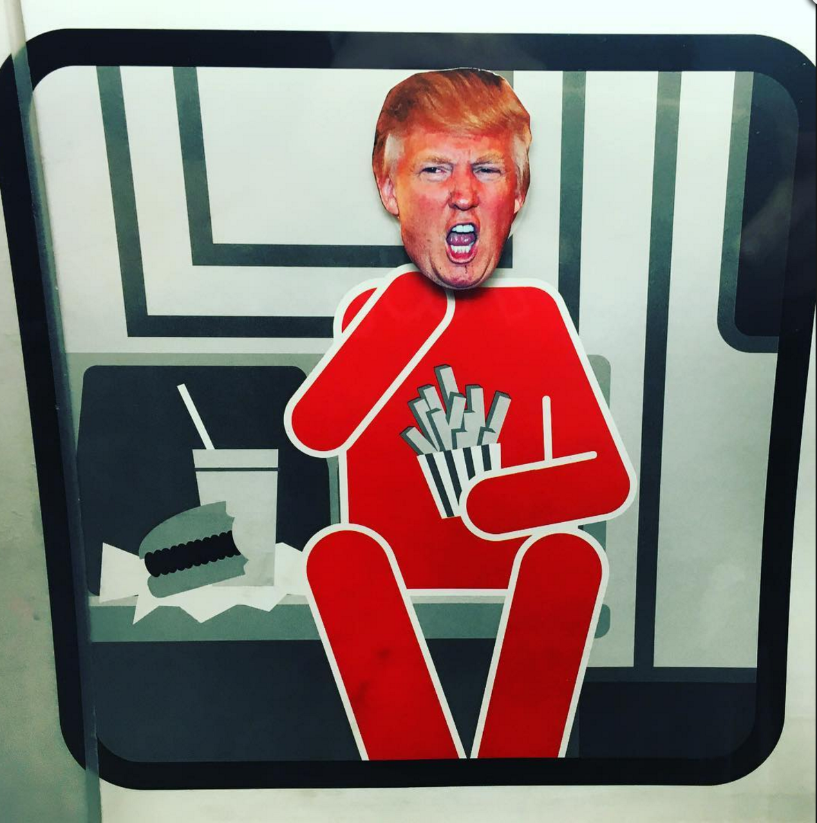 trump subway stickers