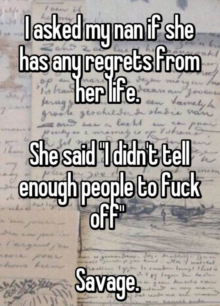 grandma confessions