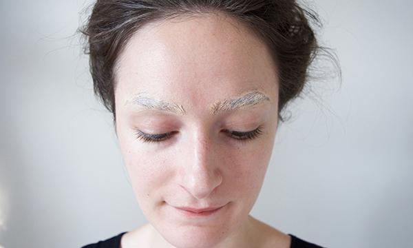 erase eyebrows