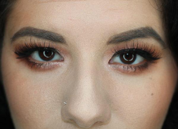 Wearing eye makeup