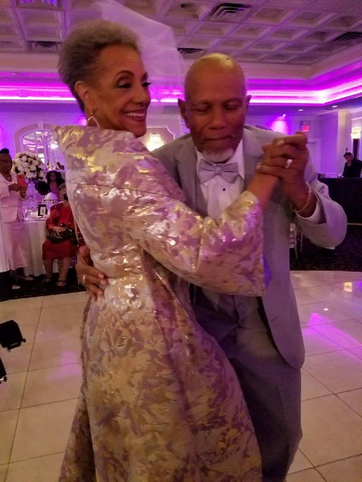 Millie and Harold share their first dance