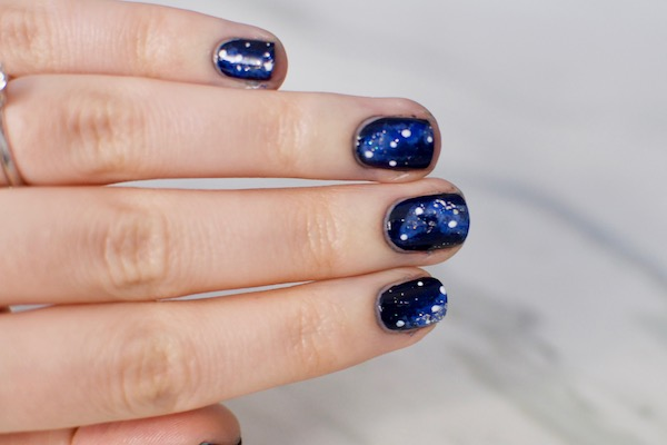 galaxy nail art - A Galaxy Nail Art Tutorial That's Beyond Out Of This World