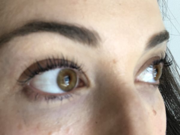 After eyelash lift and tint