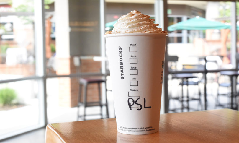 starbucks pumpkin spice latte 2018