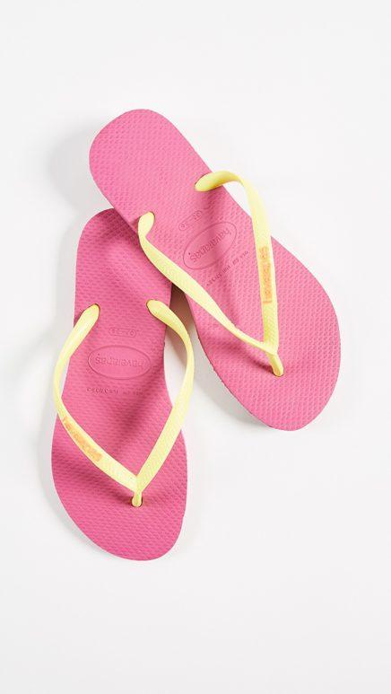 havaianas slim logo popup sandals