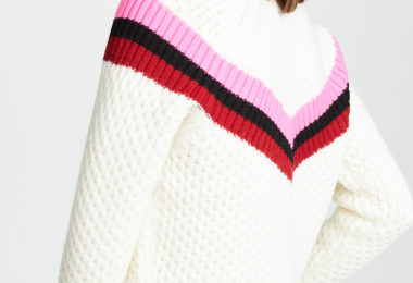 milly varsity sweater pink