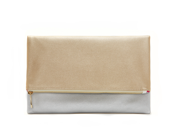 lulu dharma clutch in silver