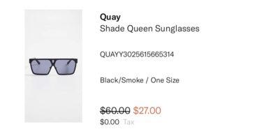cheap quay sunglasses