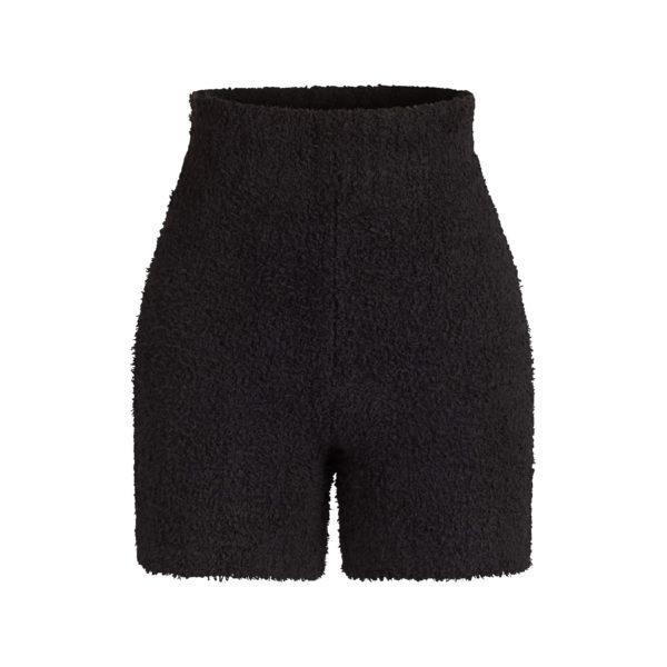 Kim Kardashian Sweats, Cozy Black knit short