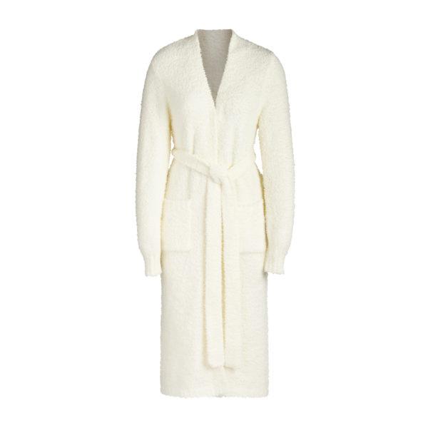 Kim Kardashian Sweats, Cozy White Knit Robe