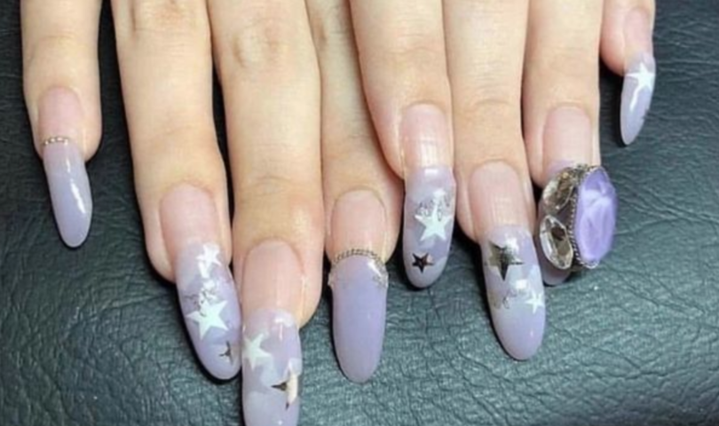 grown out acrylic nails
