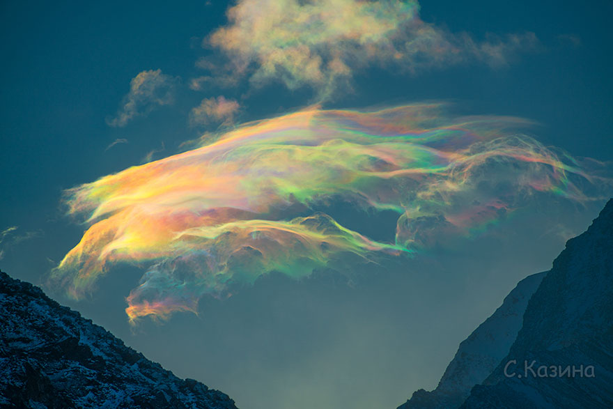iridescent clouds