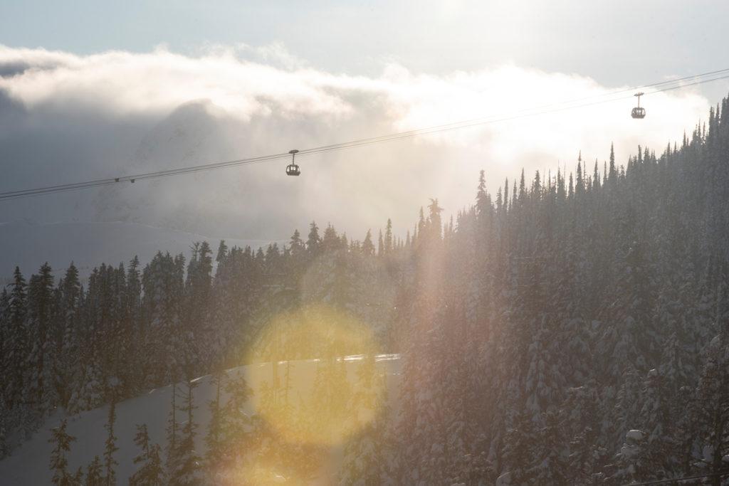whistler in april ziplining