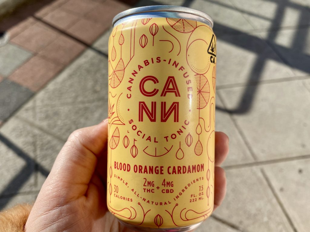 thc drinks, cann blood orange cardamom soda